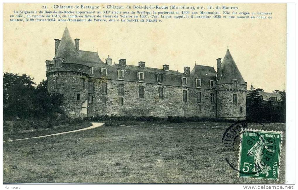 mauron le chateau du bois de la roche Delcampe net # Le Chateau Du Bois