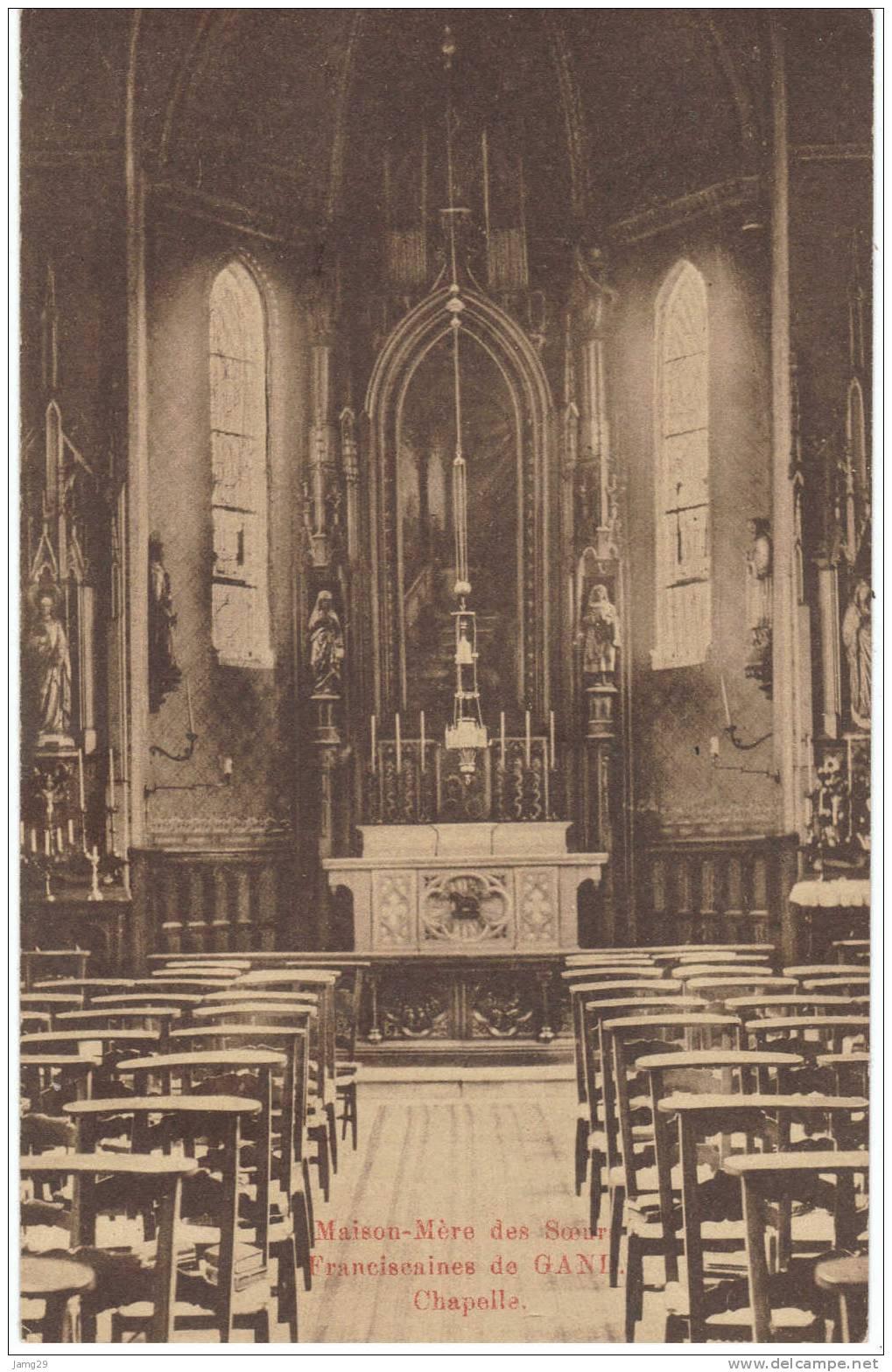 België/Belgique, Gent/Gand, Moederhuis Franciscanessen/Maison-Mère Soeurs Franciscaines, Kapel/Chapelle, Ca. 1920 - Gent