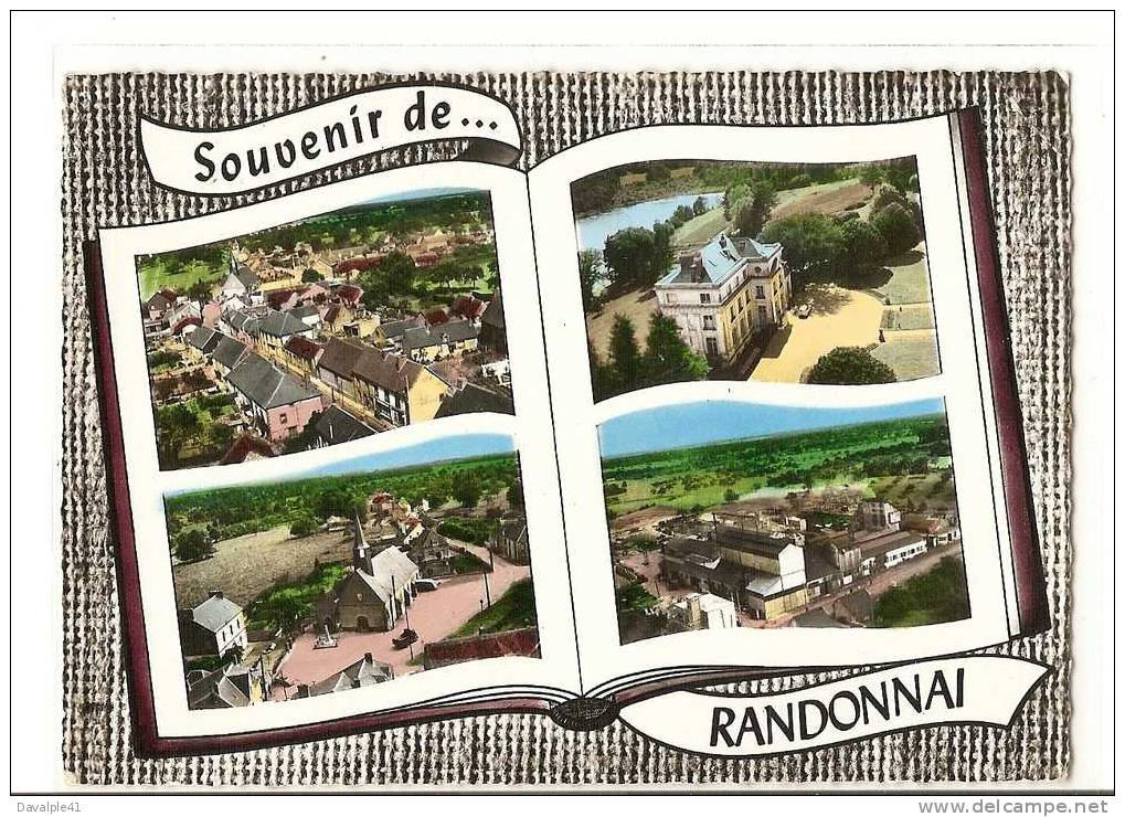 61  RANDONNAI VUE GENERALE LE CHATEAU L'EGLISE - France