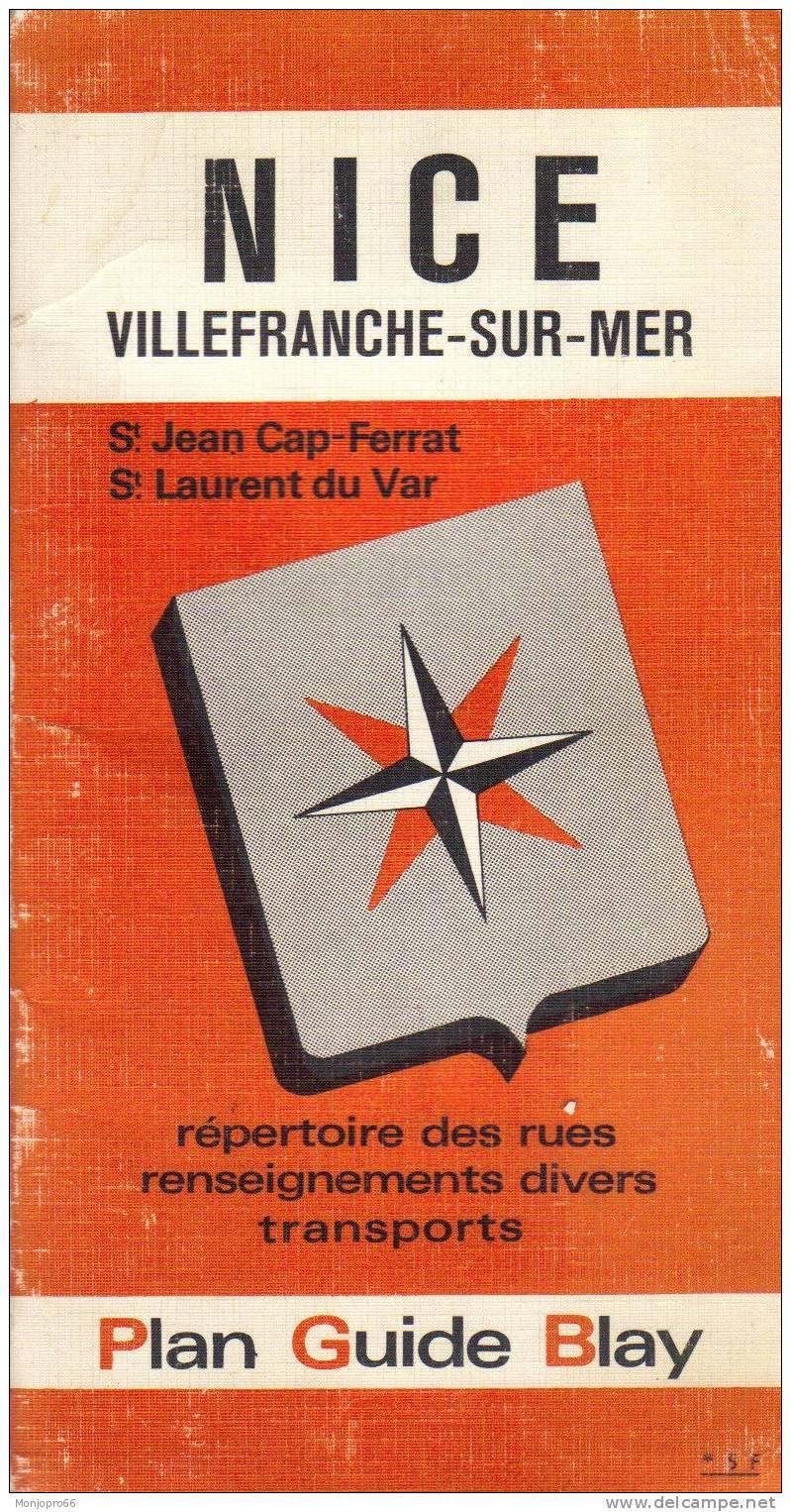 Plan Guide Blay De NICE Villefranche-sur-Mer (St Jean Cap Ferrat St Laurent Du Var) - Other Collections