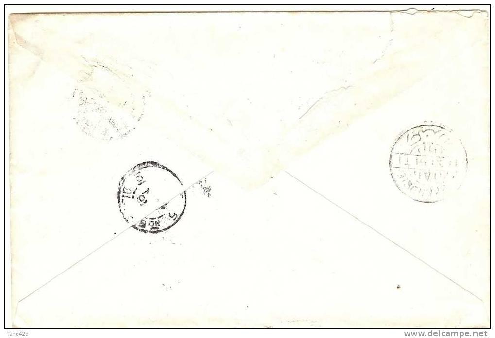 REF LBL3 - EGYPTE EP ENVELOPPE RECOMMANDEE ASSIOUT / PARIS 10/11/1891 - Égypte