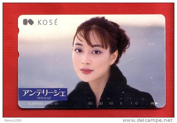 Japan Japon Telefonkarte Phonecard -    Parfum Kosmetik Perfume Cosmetics Cosmétique Women Frau Girl Femme - Parfum
