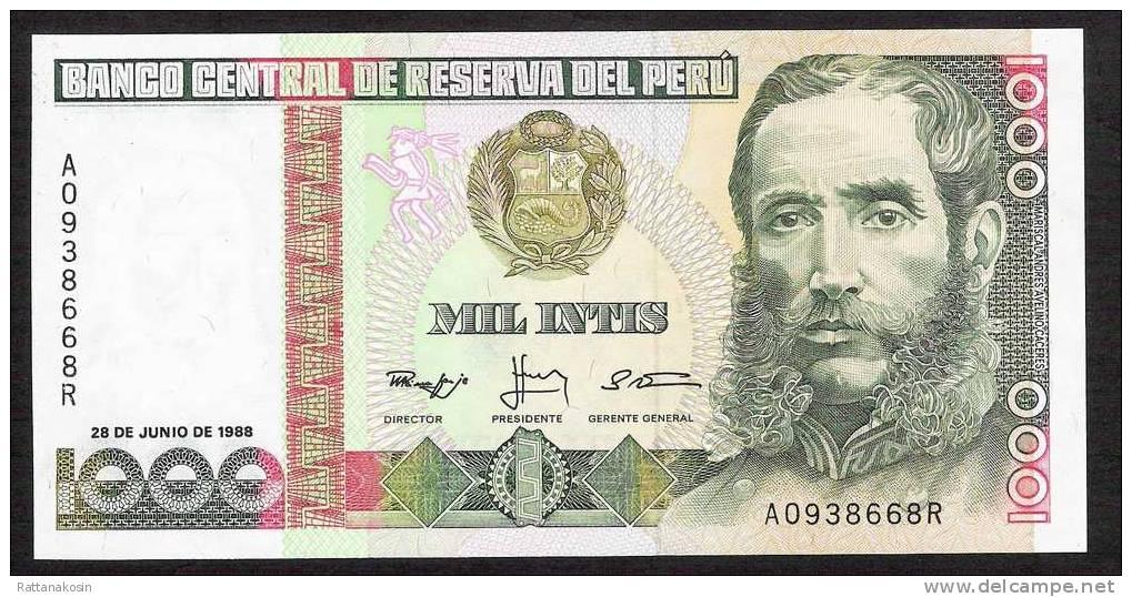 PEROU PERU    P136b    1000 INTIS   1988  Serie A        UNC - Pérou