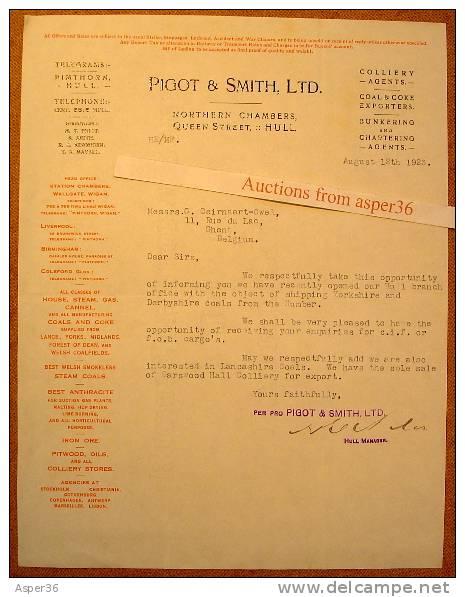 Pigot & Smith, Ltd, Northern Chambers, Queen Street, Hull 1923 - Royaume-Uni