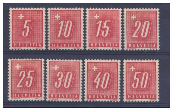 BB140 - SVIZZERA , Segnatasse Serie Mista N. 67/74 *** - Servizio