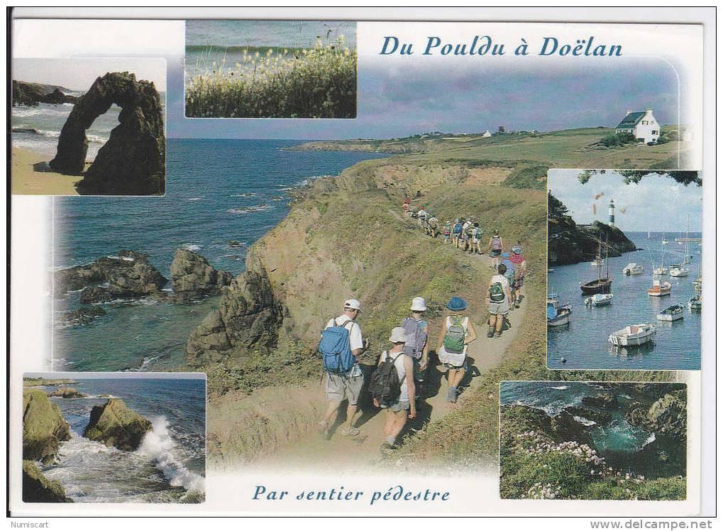 Pouldu...multi-vues...port...sentier...rocher... - France