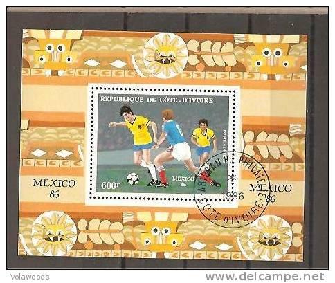 Costa D´Avorio - Foglietto Usato: Coppa Del Mondo Messico 86 - 1986 – Mexico