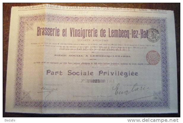 ACTION BRASSERIE ET VINAIGRERIE DE LEMBECQ-LEZ-HAL - Industrie