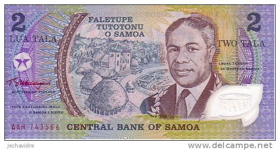 SAMOA   2 Taka  Non Daté (1990)   Pick 31e   Polymer    ***** BILLET  NEUF ***** - Samoa