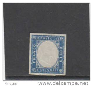 Italy-1863 15c Blue Mint Never Hinged Signed  Diena - Mint/hinged