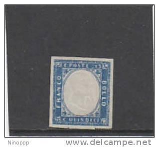 Italy-1863 15c Blue Mint Never Hinged Signed  Diena - 1861-78 Vittorio Emanuele II