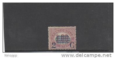 Italy-1878 Official Stamps Surcharged 2c On 1 Lira Mint Hinged - 1861-78 Vittorio Emanuele II