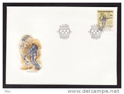 Czechoslovakia #2851 FDC Bratislava Postmark On Unaddressed Cacheted Cover - Tennis