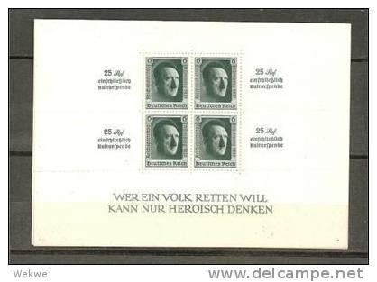 DSP137/ Block 11, Zudruck Reichsparteitag 1937 ** - Blocks & Kleinbögen