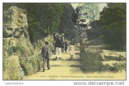 Paris  N° 480 Buttes Chaumont Une Allée Pittoresque - Arrondissement: 19