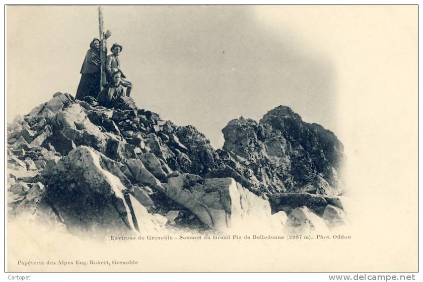 CPA ALPINISME - Environs De GRENOBLE - Sommet Du GRAND PIC DE BELLEDONNE  (2987m) - Alpinisme