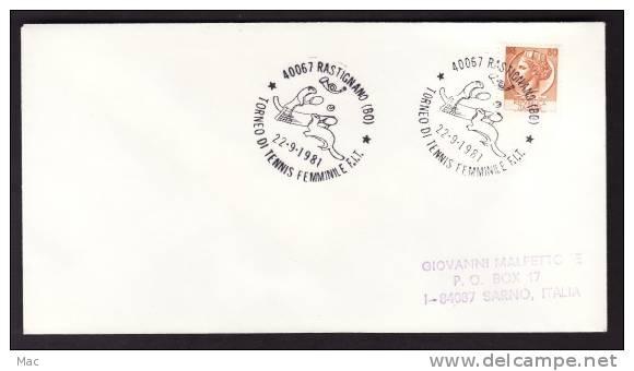 Italy Rastignano 1981 Women´s Tennis Tournament On Addressed Cover - Tennis