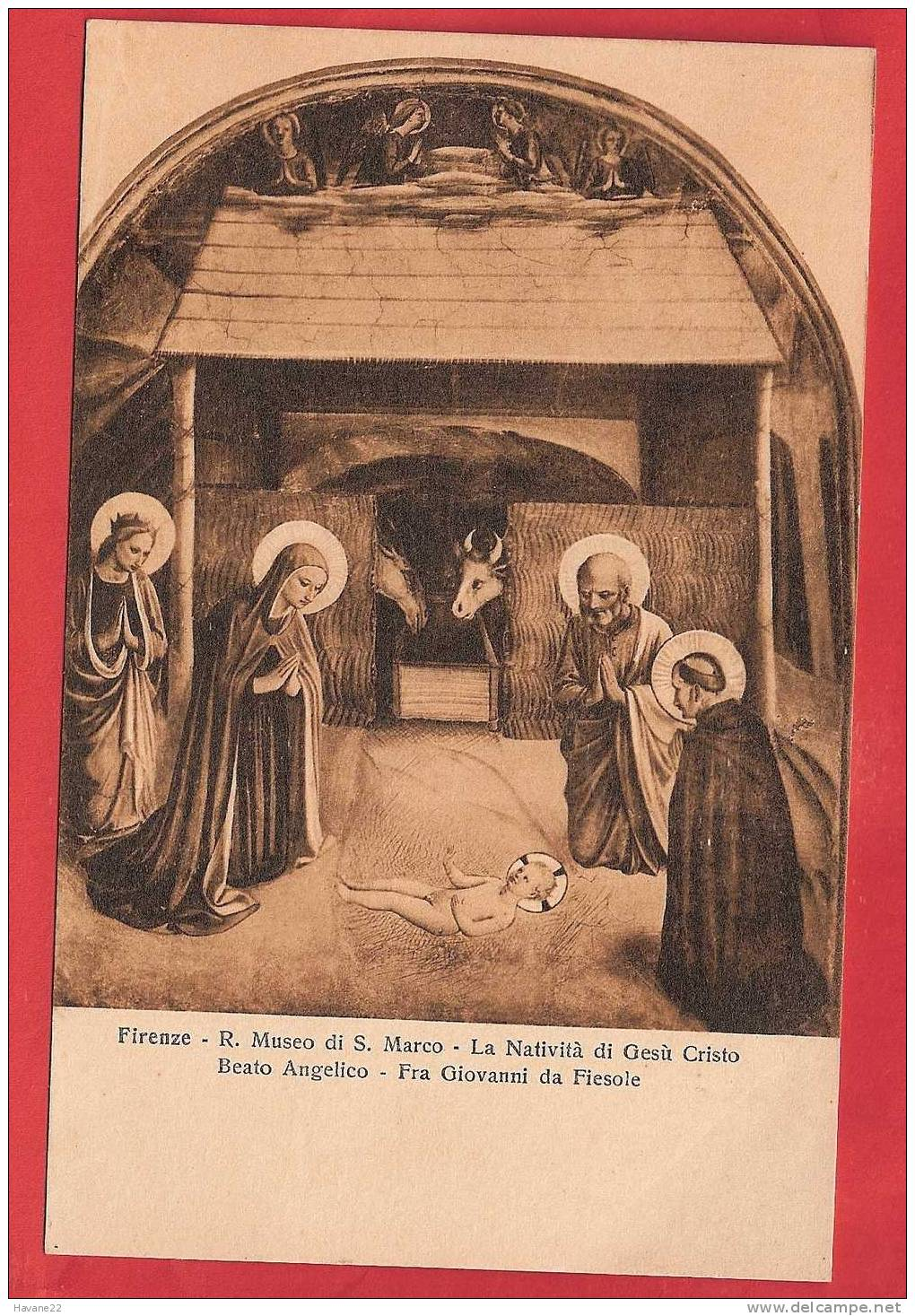 D458 FIRENZE R MUSEO DI S MARCO LA NATIVITA DI GEZU CRISTO - Christianisme