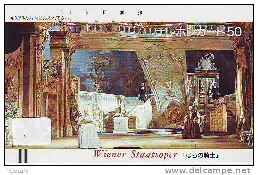 Telefonkarte Japan Orchestre  (1) WIENER STAATSOPER * ORCHESTRA * CONCERT DIRIGENT Musique Music Muziek JAPAN - Musik