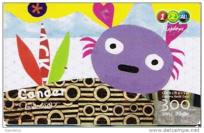 Zodiac - Cancer - Thailand Prepaid Calling Card - Zodiaco