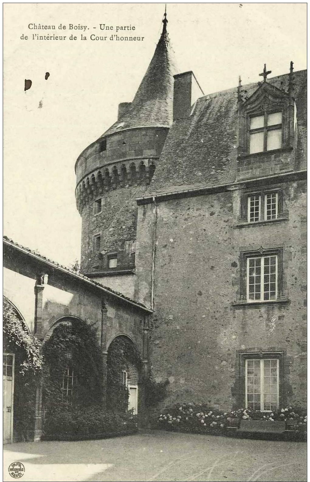 42- Château De Boisy Une Partie De L'intérieur De La Cour D'Honneur - France
