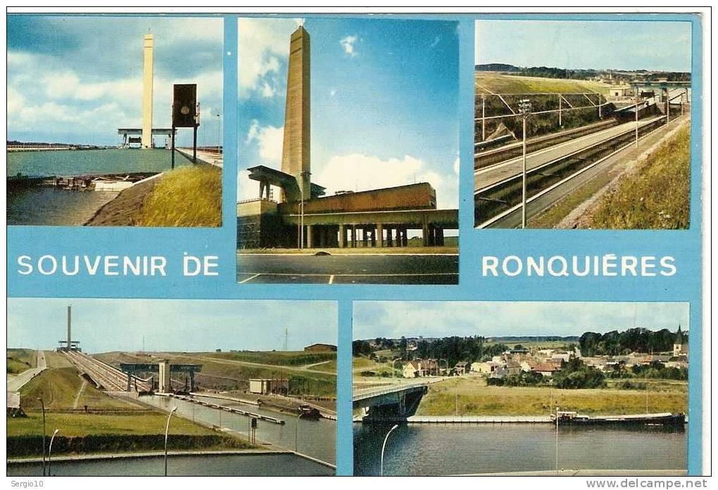 RONQUIERES  :    SOUVENIR  DE  RONQUIERES   -  CARTE  MULTIVUES - Braine-le-Comte