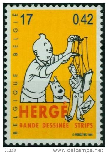 BELGIQUE 2873 ** MNH TINTIN KUIFJE TIM HERGE Marionnette Comics Bande Dessinée Strip - Comics