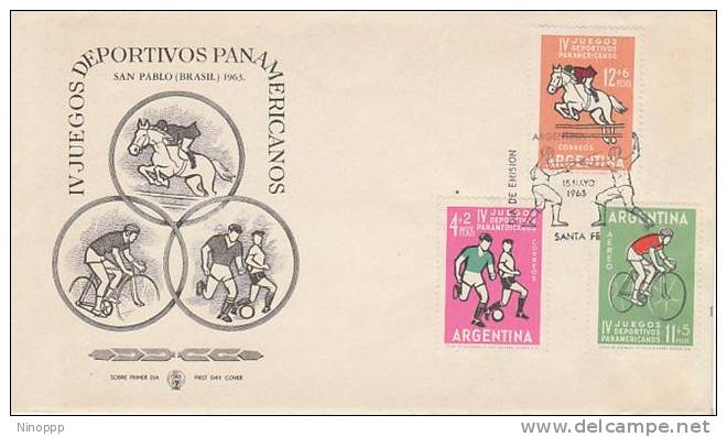 Argentina-1963 IV Panamerican Games FDC - Stamps