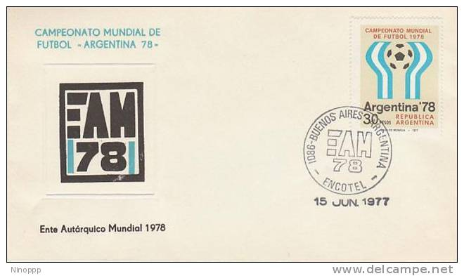 Argentina-1977 Soccer World Cup 78 , EAM 78 Souvenir Cover - Soccer