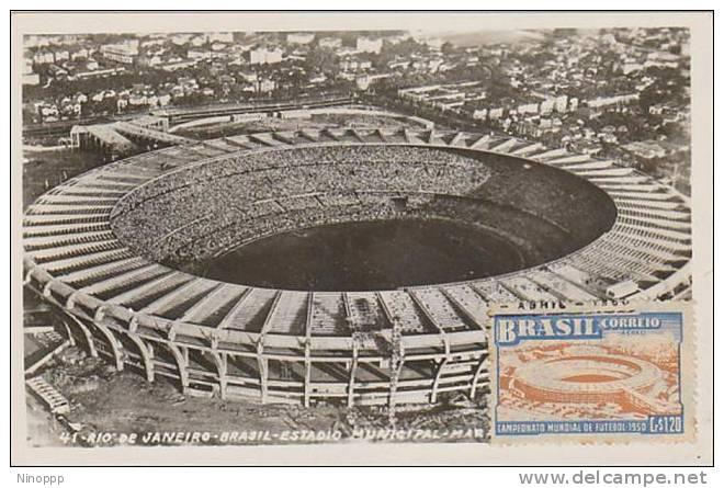 Brazil-Brazil-Brazil-1950 World Football Cup  Sao Paolo Stadium Maximum Card - Unclassified