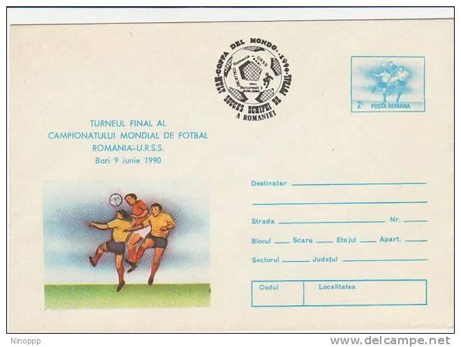 Romania-1990 World Football Cup  Prepaid Envelope - Soccer