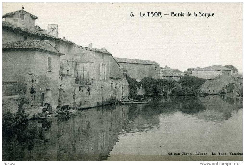 CPA 84 LE THOR BORDS DE LA SORGUE  PARFAIT ETAT - France