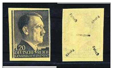 Z5597)GG 87 U Fälschung, Signiert Schweizer - Besetzungen 1938-45