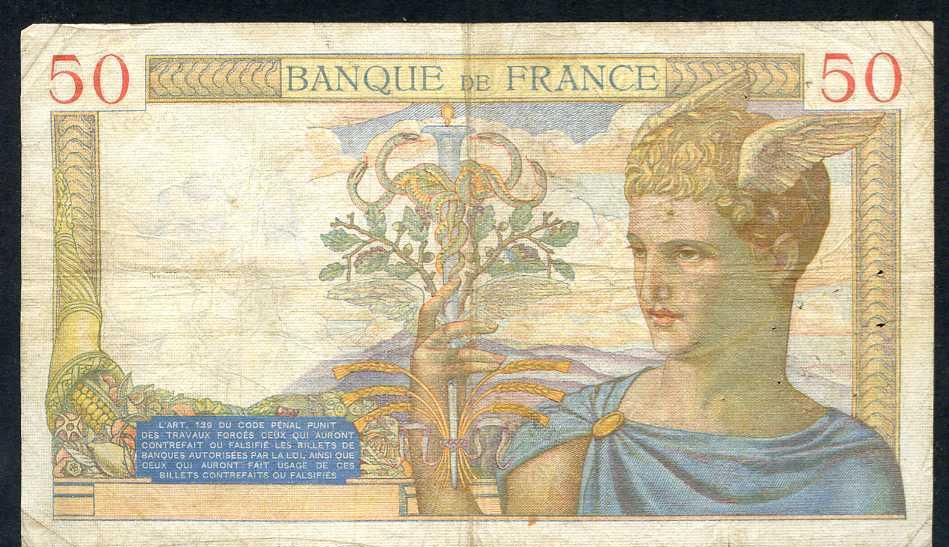 376- France Billet De 50 Francs 1935 AX P2974 - 50 F 1934-1940 ''Cérès''