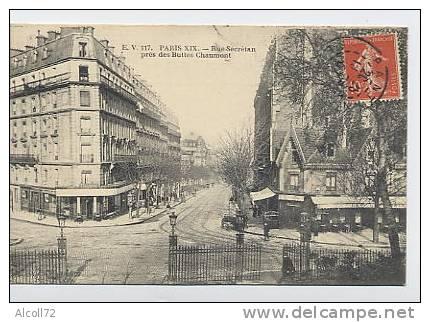 PARIS : Rue Secrétan ,près Des Buttes Chaumont - Arrondissement: 19