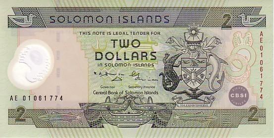 SOLOMON ISLANDS   2 Dollars  Non Daté (2001)  Pick 23  Polymer   ***** BILLET  NEUF ***** - Salomons