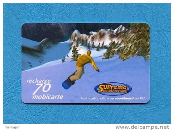 ( 2671 ) - Mobicarte  SNOWBORD - 1 - Foret - ( PU 36 )   -  *** TBE ***  -  Voir Scan  - - Frankrijk
