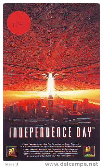 Telecarte Japonaise (114) * INDEPENDENCE DAY *  Telefonkarte Japan  Film - Cinema - Movie - Kino - Film