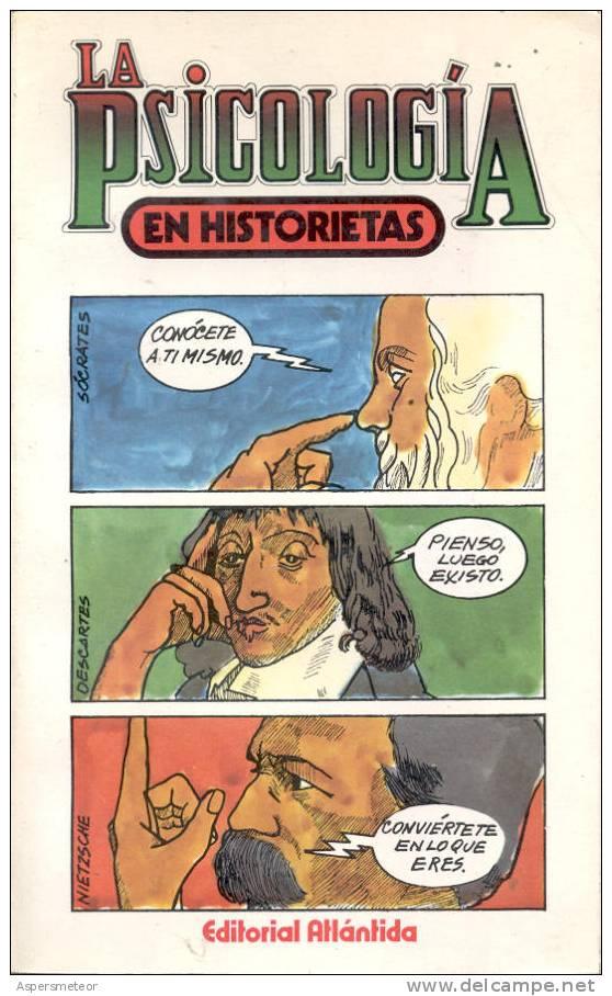 LA PSICOLOGIA EN HISTORIETAS. DENIS HUISMAN. CON DIBUJOS DE GIBET. HUMOR. EDITORIAL ATLANTIDA. 222 PAGINAS CUAC - Humour