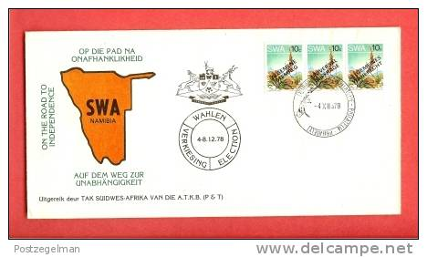 SWA 1978 Cover Universal Suffrage 454 Mint - Namibia (1990- ...)