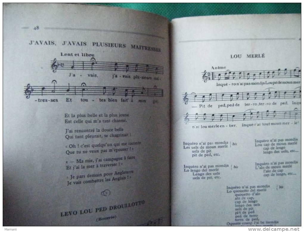 Recueil De La Bourree Chants Et Danses Populaires Du Massif Central--photo Louis Bonnet-marche Nuptiale-lo Bielho-etc... - Zonder Classificatie