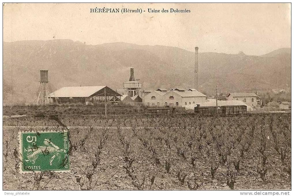 34/ HEREPIAN- USINE DES DOLOMIES - Francia