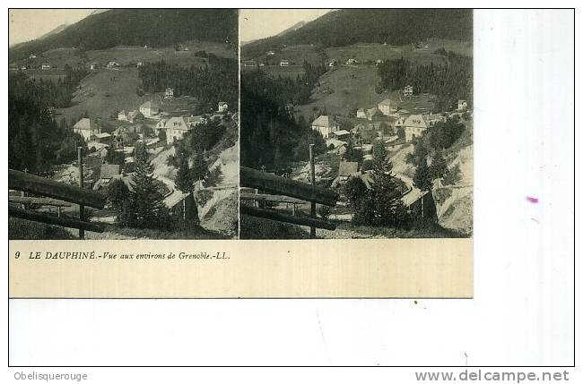 GRENOBLE ENVIRONS COLL LE DAUPHINE   CARTE STEREO LL N ° 9 TOP TOP  ANIMATION - Grenoble