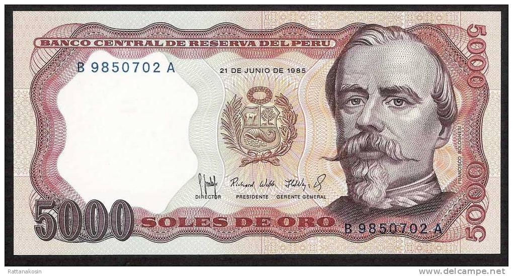 PERU P117c  5000 SOLES  1985    UNC.   X   10   PIECES - Pérou