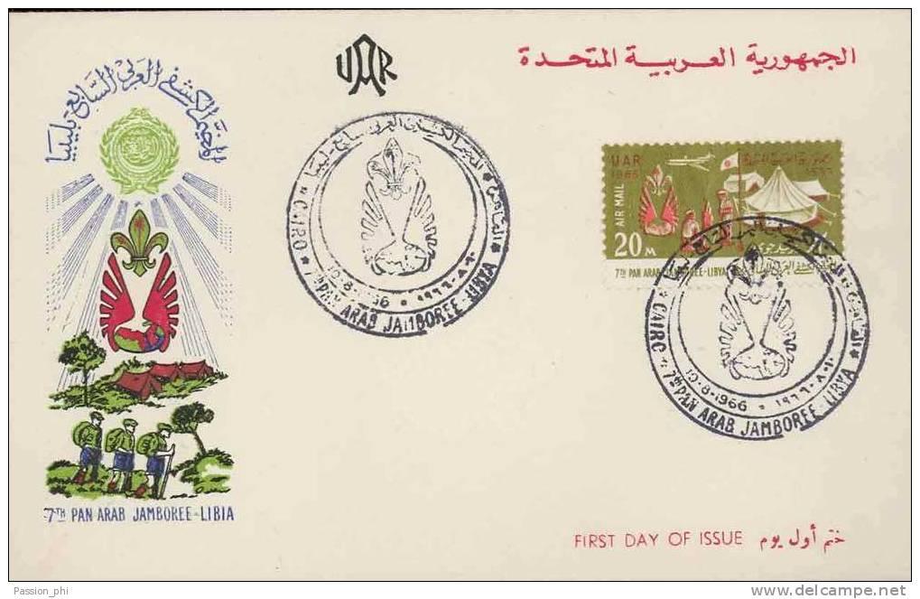 EGYPTE 1966 FDC JAMBOREE - Egypt
