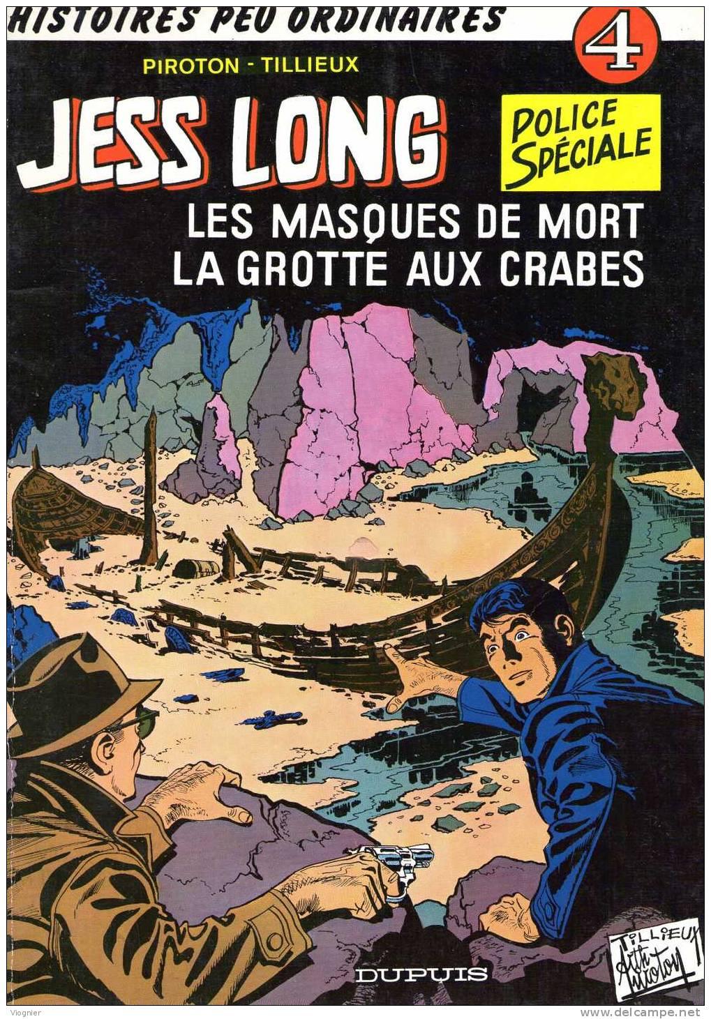 Jess LONG   4. Les Masques De Mort  Tillieux & Piroton   Dupuis  1978   Edition D´origine   Bon  état - Jess Long