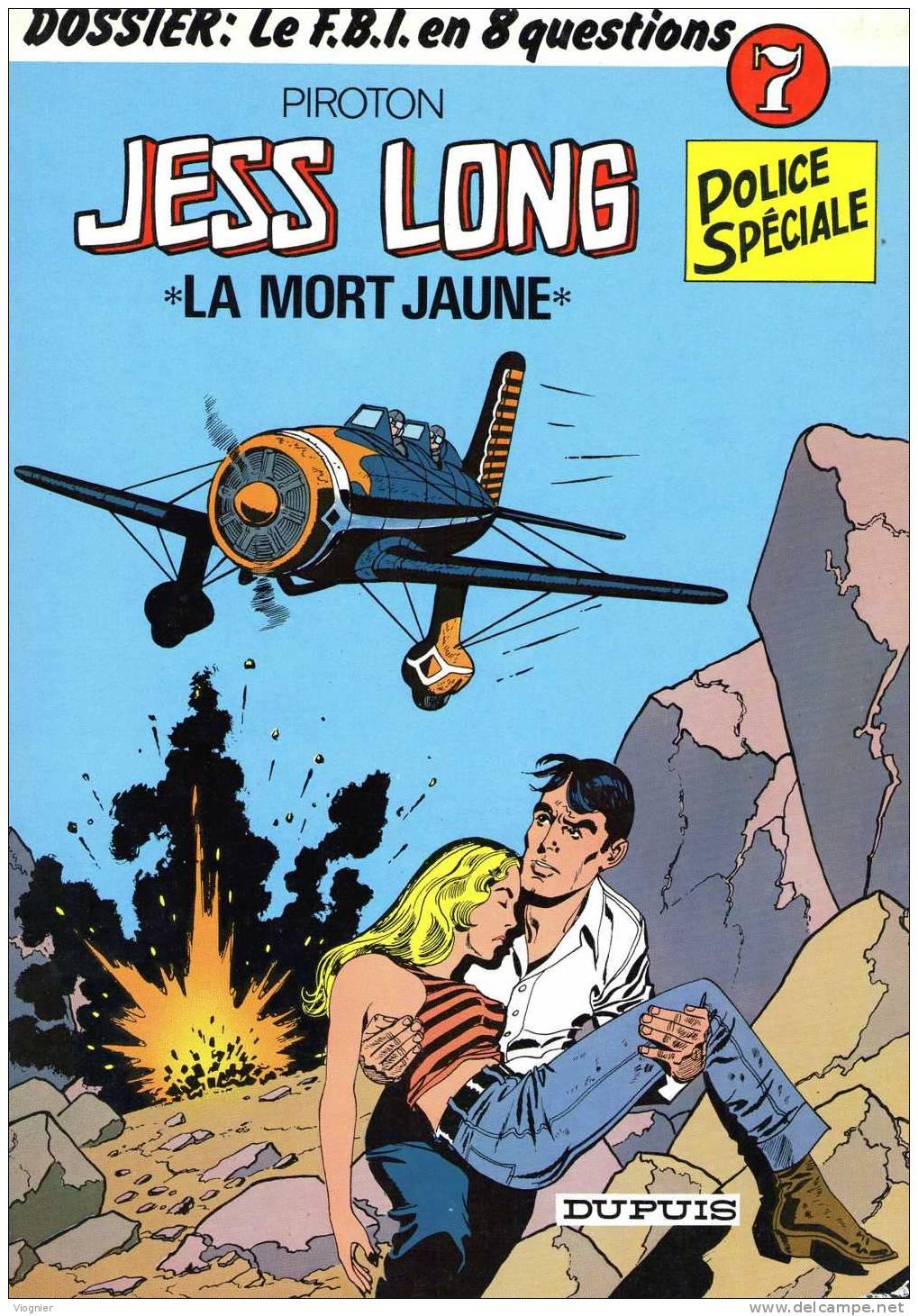 Jess LONG  7. La Mort Jaune   Piroton    Dupuis  1982    Edition D´origine   Bon  état - Jess Long