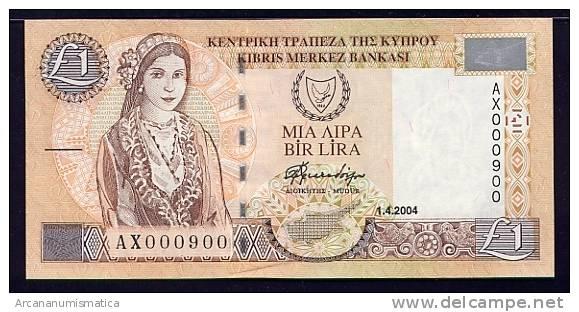 CHIPRE  1  LIBRA  1-4-2004  KM#60d  PLANCHA/UNC   DL-7235 - Chipre