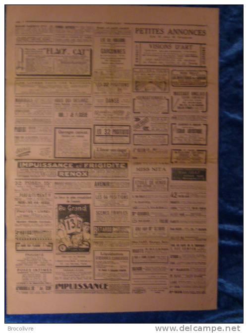 -PARIS-FLIRT-N°169-1925-journal Satirique Et Petites Annonces Coquines-rare- V Spahn- - Unclassified