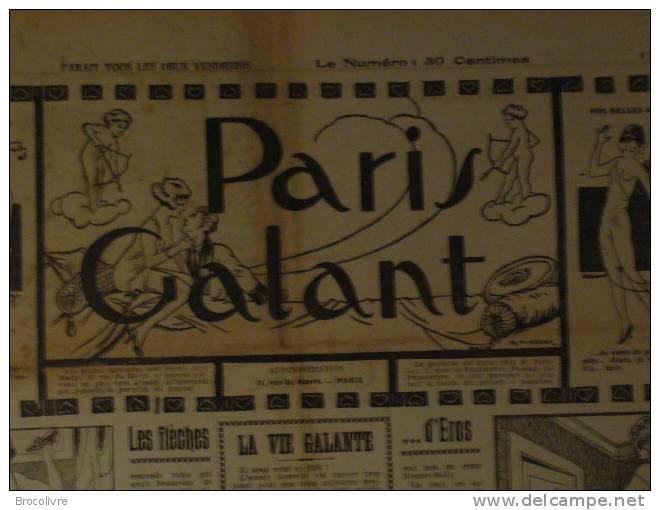 -Paris Galant-N°88-1926-journal Satirique Et Petites Annonces Coquines-rare- - Unclassified